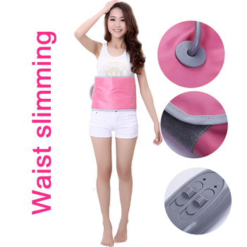 Do not rebound Physical Fat Burning Beauty Care Abdomen belly Slimming Belt Burning Weight Loss body massage Detox Pink