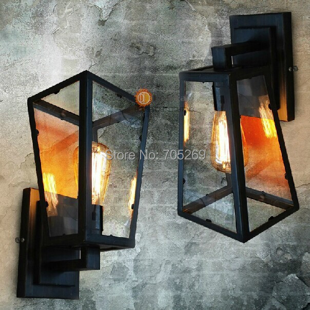Wholesale American  Hanging wall lamp The Industrial Vintage Lamp wall lamps E27/110V/220V Edison Bulb wall Light For Room