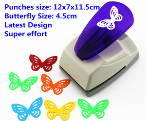 Image 1 - Super Large Size Shaper Punch Craft Scrapbooking butterfly Paper Puncher large Craft Punch DIY children toys