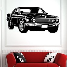 Hot Sale Shelby GT Ford Mustang Muscle Racing Car Wall Mural Vinyl Art Decor Sticker Decal  Y-300