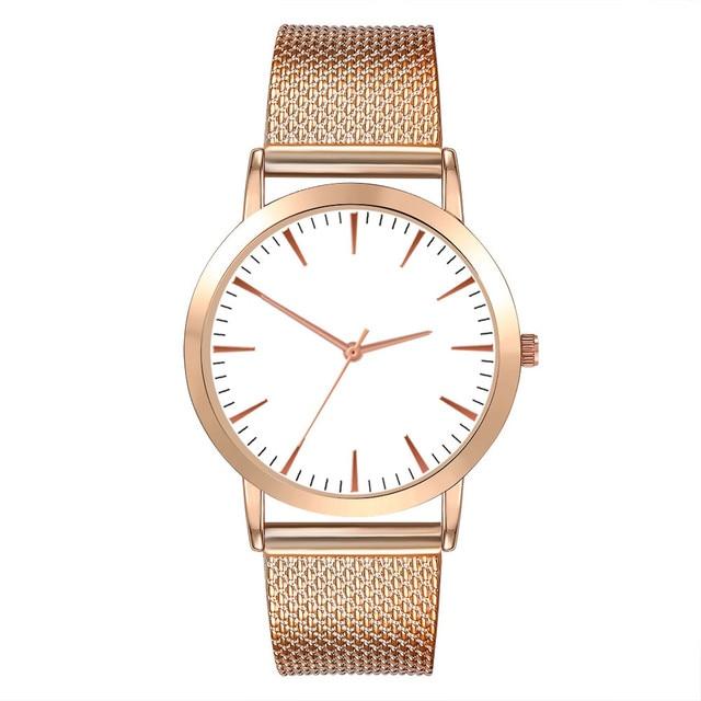 Women Watch Wrist Stainless Steel gold Top Brand Luxury Ladies Wristwatch Fashio