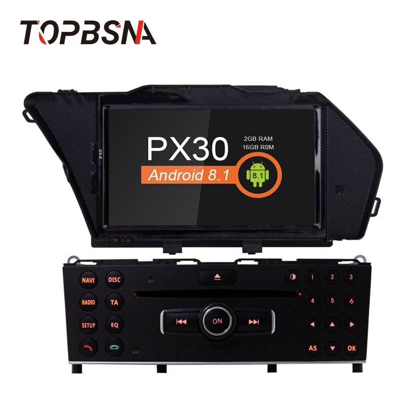 TOPBSNA 1 Din Car DVD Player Android 8.1 FOR BENZ GLK/GLK X204/GLK 300/GLK 350 GPS Car Multimedia Radio Audio headunit WIFI RDS