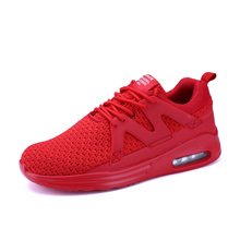 New 2017 Men Athletic Shoes Summer/Autumn Cool Sneakers Men White/Red/Black Cheap Running Shoes For Men Best Mens Tennis Shoes