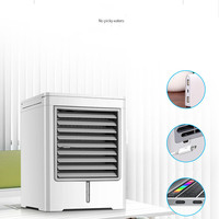 portable Mini Air Cooler Household Refrigeration Air Conditioner Dormitory Water Cooling Bed Small Electric Fan AC 06