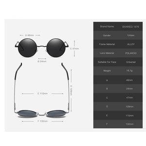 Image 5 - 2020 HD الاستقطاب النظارات الشمسية المستديرة المعدنية Steampunk الرجال النساء نظارات الموضة العلامة التجارية مصمم ريترو خمر النظارات الشمسية UV400