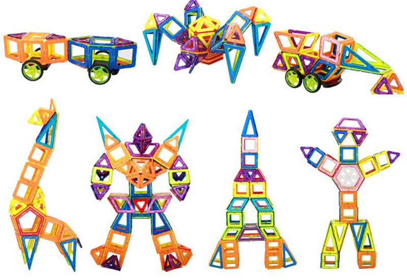 розничная продажа 1 шт. мини магнит конструктор игрушки, детские развивающие игрушечные нагрузки пластик творческий кирпичи доказал магнит здания конструктор