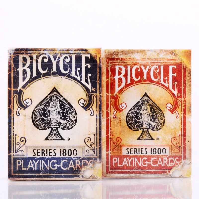 Bicycle Vintage Series 1800 Marked Deck Blue/Red Magic Cards Poker Playing Cards by Ellusionist NEW Sealed Close Up Magic Tricks poker cheat xf 004 perspective poker lens see invisible marked cards anti gamble cheat magic glasses casino cheating
