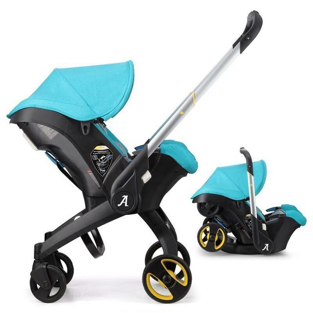 a60003ae5909 US $308.88 28% OFF|2019 New 4 in 1 Baby Stroller With basket safety car  seat 3 in 1 newborn carriage can sit lie down Umbrella Pram-in Lightweight  ...