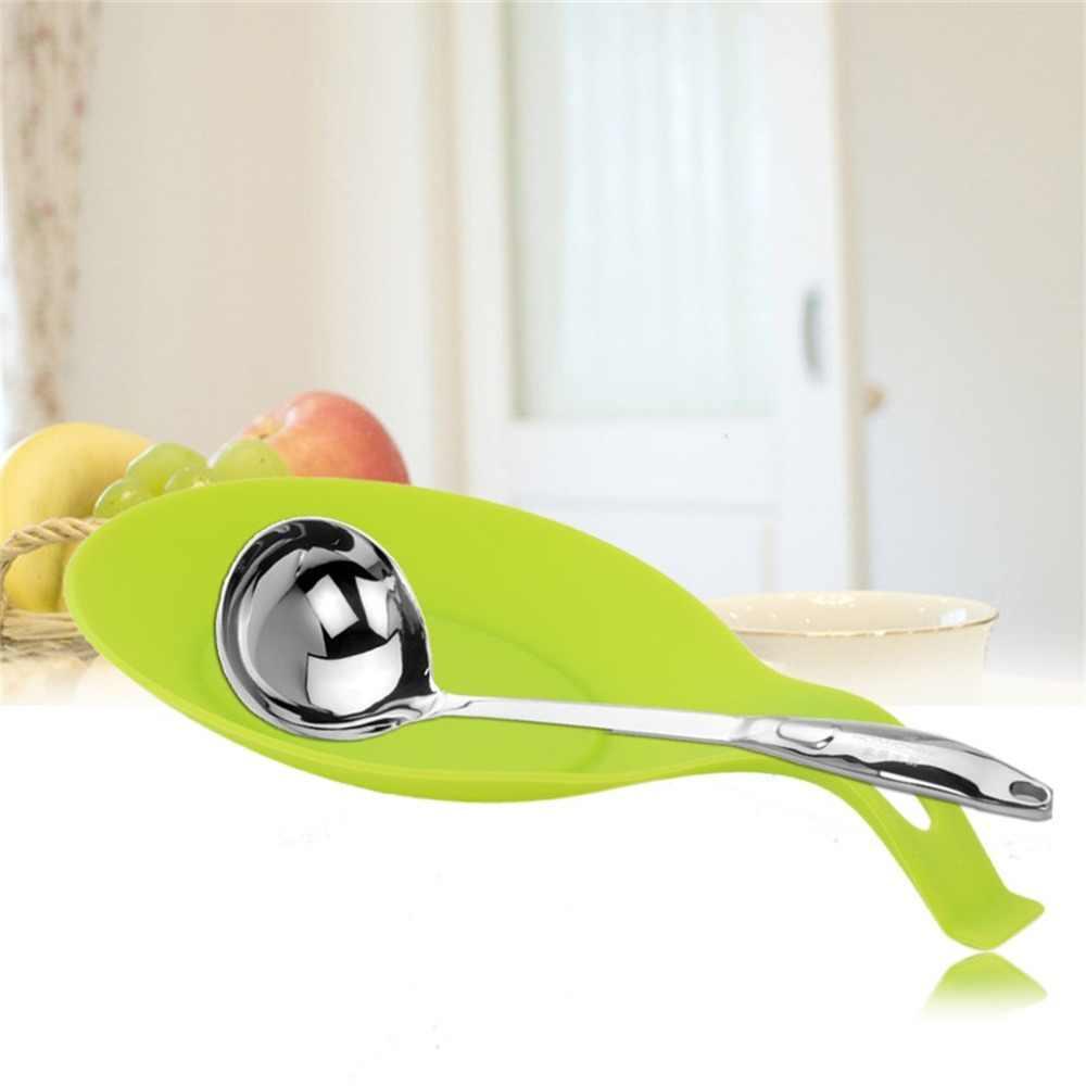 2018 новая силиконовая подставка для ложки термостойкая кухонная утварь держатель для кухонной лопатки кухонный инструмент Кухня инструмент домашний Горячий Поиск