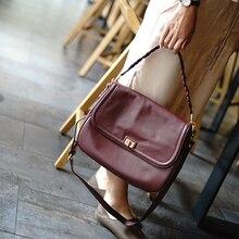 Hot 2019 New Luxury Handbags Designer Leather Bag Ladies Shoulder Women Crossbody Bags For Women Bag Female Genuine Leather цены онлайн