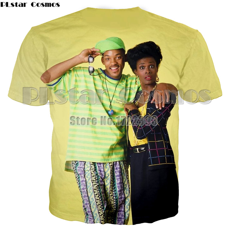 PLstar Cosmos New Men Women Wax Museum T shirt The Fresh Prince of Bel Air Will Smith 3d Printed T shirt Summer Tee shirts Tops in T Shirts from Men 39 s Clothing