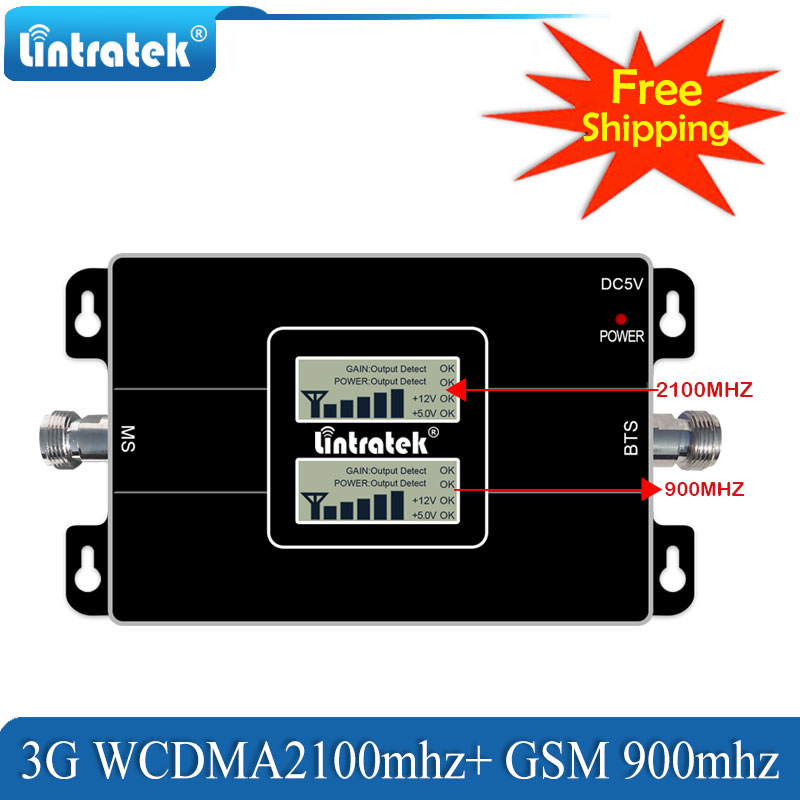 Lintratek Trasporto Libero 4g Lte 1800 cellulare Amplificatore di ripetitore di segnale GSM 900 Del Telefono Mobile 2g 4g 65dB dual Band Ripetitore di Segnale