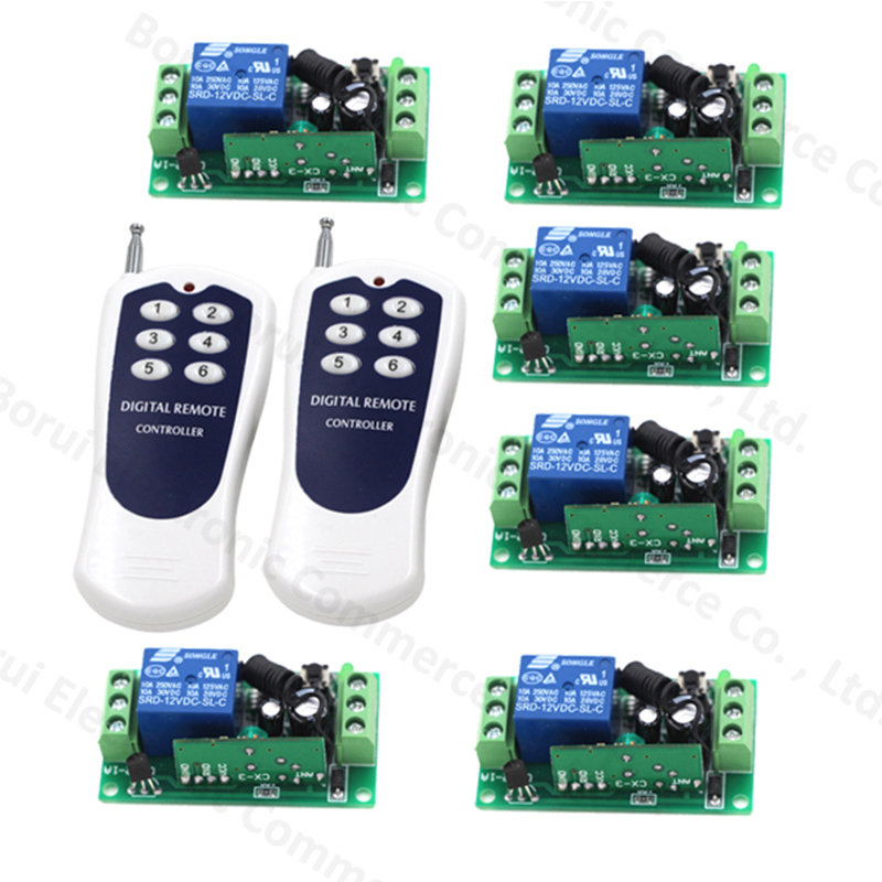 Hot Sales 1 Channel DC 12V RF Wireless Remote Control Switch Receiver + 2 X Transmitters Free shipping купить в Москве 2019