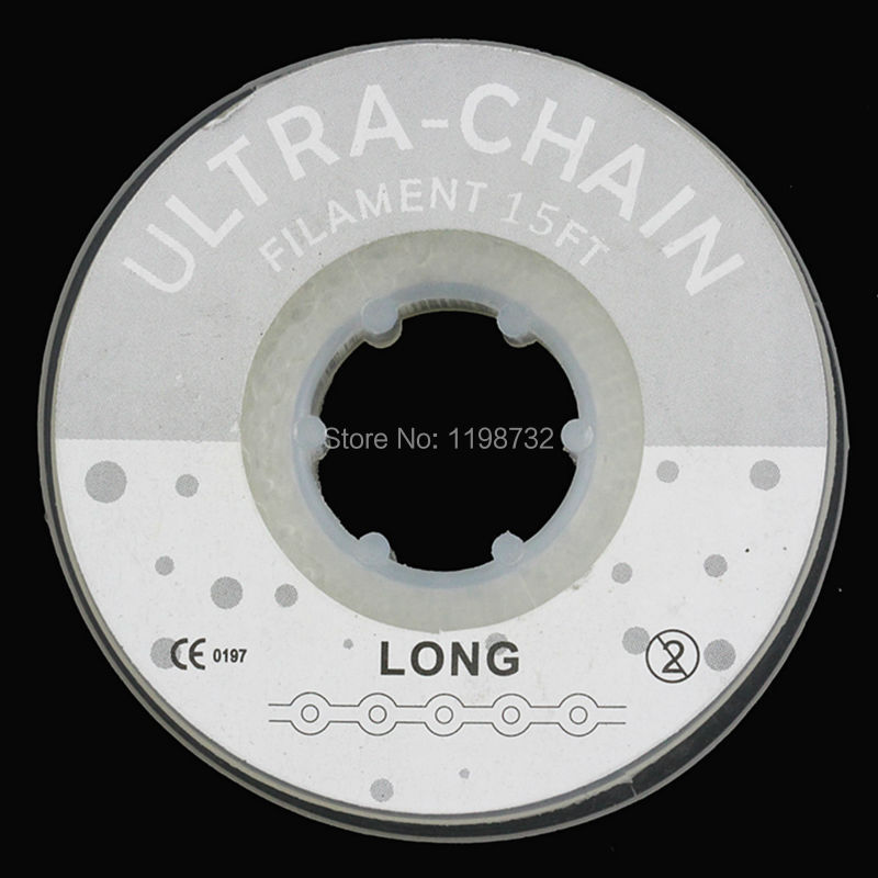 High Quality Dental Orthodontics Materials Elastic Ultra Power Chains Transparent Long Size Dentist Products
