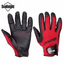 SeaKnight SK02 Fishing Gloves Full Finger Neoprene PU Breathable Leather Gloves Warm Protect L XL XXL Size Fishing Tackle 1 Pair