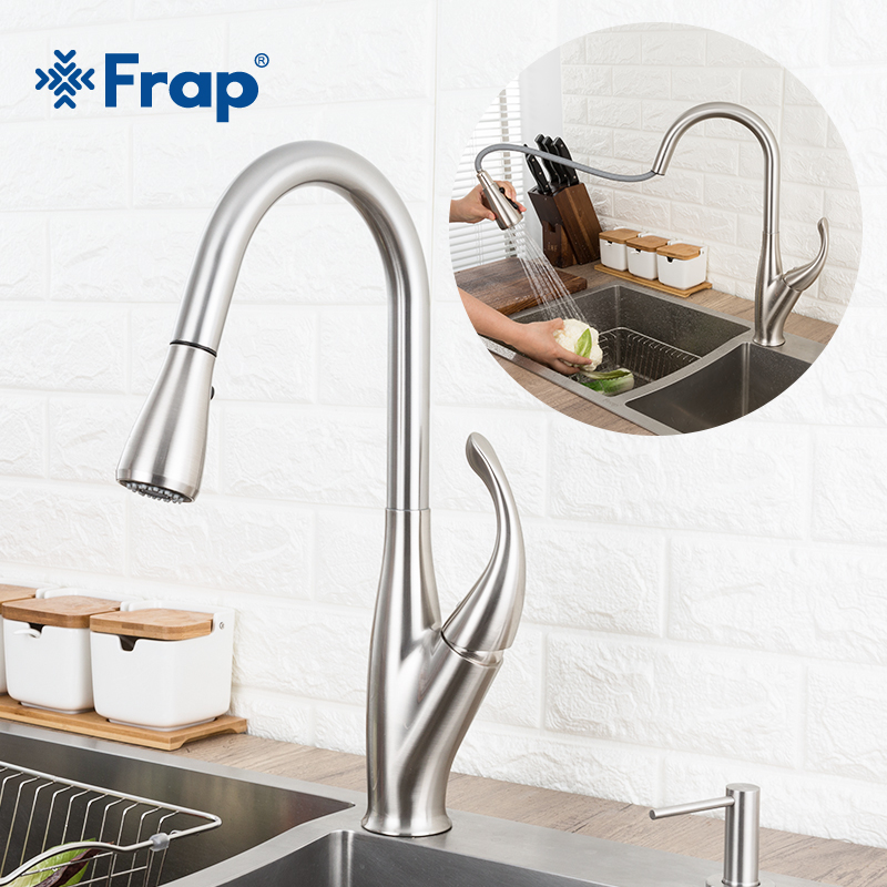 GAPPO Kitchen Faucet Mixer Kitchen Sink Faucet Stainless Steel Tap Pull Out Single Handle Swivel Spout Vessel Sink Mixer Tap