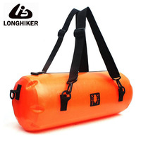 15L LONGHIKER Sport PVC Waterproof Swimming Rafting Diving Bag For Water Resistant Proof Swim Buoy Beach Sea Bag Backpack