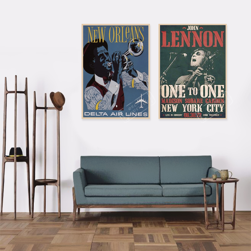 Remarkable Us 3 98 John Lennon Vintage New York Travel Poster Retro Decorative Diy Wall Sticker Canvas Paintings Art Home Bar Posters Decor Gift In Wall Ibusinesslaw Wood Chair Design Ideas Ibusinesslaworg