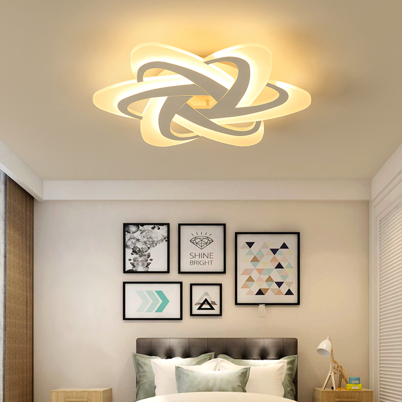 New Top Hot Bedroom Study Room Led Ceiling Lights lampara de techo led moderna Modern led Ceiling Lamp Fixtures noosion modern led ceiling lamp for bedroom room black and white color with crystal plafon techo iluminacion lustre de plafond