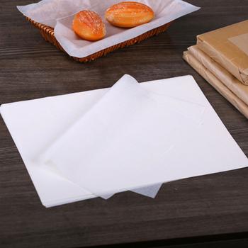 500 sztuk biały wosk papier żywności olejoodporny papier smarowy owijarki do chleba Burger frytki opakowanie pakiet Bar restauracja Bar tanie i dobre opinie BBO+1 CN (pochodzenie) Folia aluminiowa papier olejowy Jednorazowe Na stanie Ekologiczne 12 Fast food Paper 500 Other