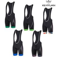 KEYIYUAN Riding Sports cycling jersey cycling bib shorts Mens Bicycle Sportswear Bike Bib Short 3D Coolmax Padded Black Pants