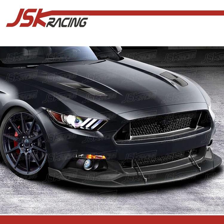 2016 Mustang Hood Scoop >> 2015 2016 Hen Style Carbon Fiber Side Hood Scoop Vent 2 Pcs For