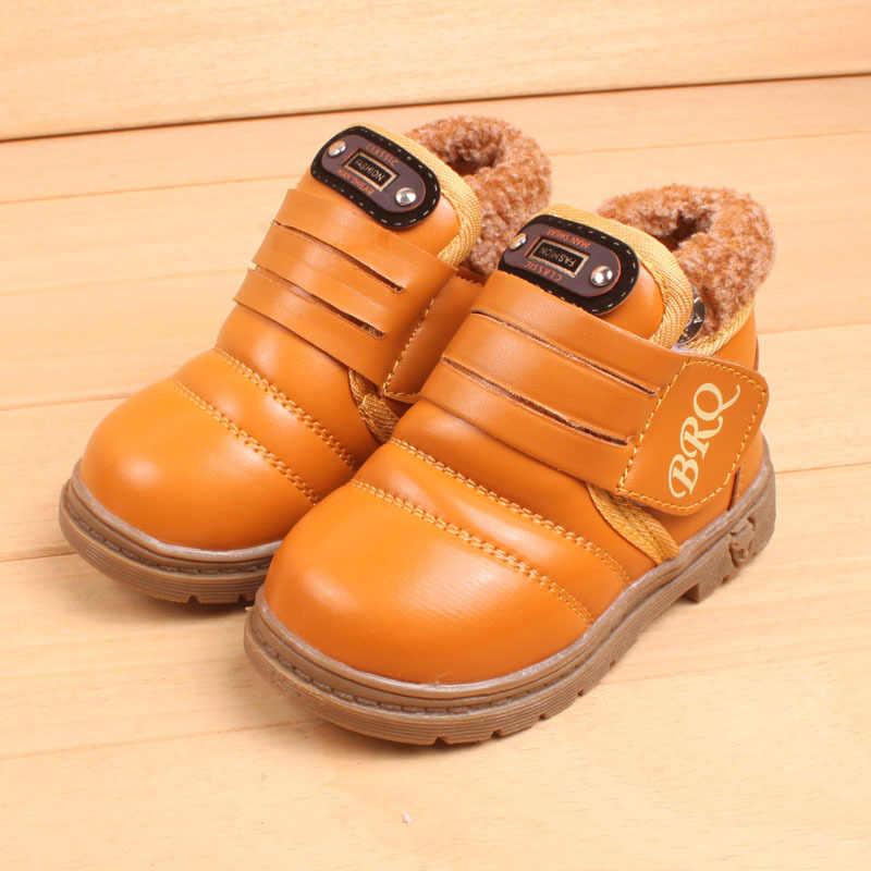AFDSWG ฤดูหนาวรองเท้าเด็กสีดำ plush warm girls รองเท้ารองเท้าสีเหลืองหิมะรองเท้าเด็กเด็กสีน้ำตาล gumboots เด็ก booties