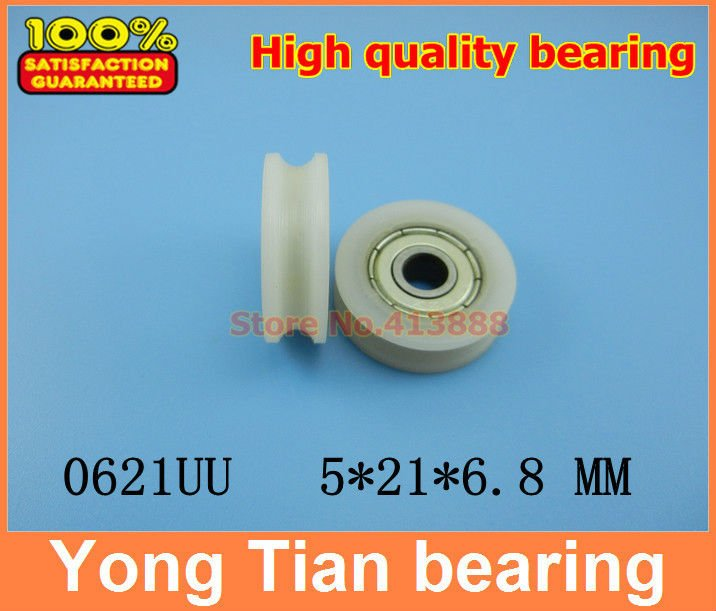 High Quality Door Pulley Bearing Plastic-covered Mute Bearing U Slot Embedded Bearing 0621uu 5*21*5.8 Free Shipping To Help Digest Greasy Food