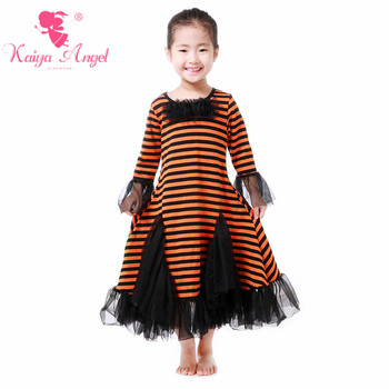 Kaiya Angel Christmas Party Halloween Girls Clothing Red Baby Boutique Clothing Christmas Kids Fall Long Sleeve Tulle Dress