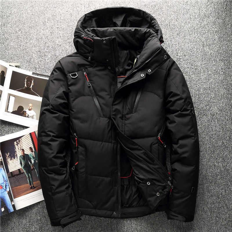 59d858d57d09 ... 2018 Высокое качество 90% белый утиный пух куртка Мужская пальто Зимние  Парки Мужская теплая брендовая ...