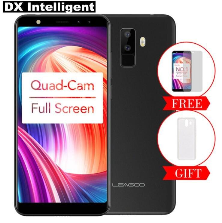 LEAGOO origine M9 8MP Quatre-Cames Mobile Téléphone MT6580A Quad Core 5.5 18:9 Plein Écran 2 gb RAM 16 gb ROM Android 7.0 D'empreintes Digitales