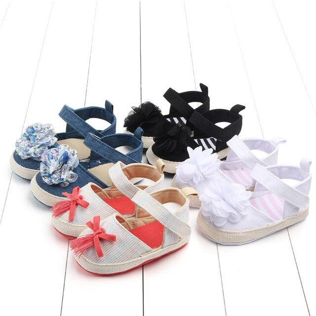 Canvas Baby Toddler Shoes Girls Baby First Walker Shoes Lovely Flower Bebek Ayakkabi Infant Girls Shoes For Bebies Baby Walker