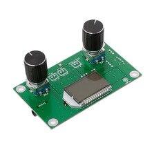 1 pc 87 108 mhz dsp & pll lcd estéreo módulo receptor de rádio fm digital + controle de série