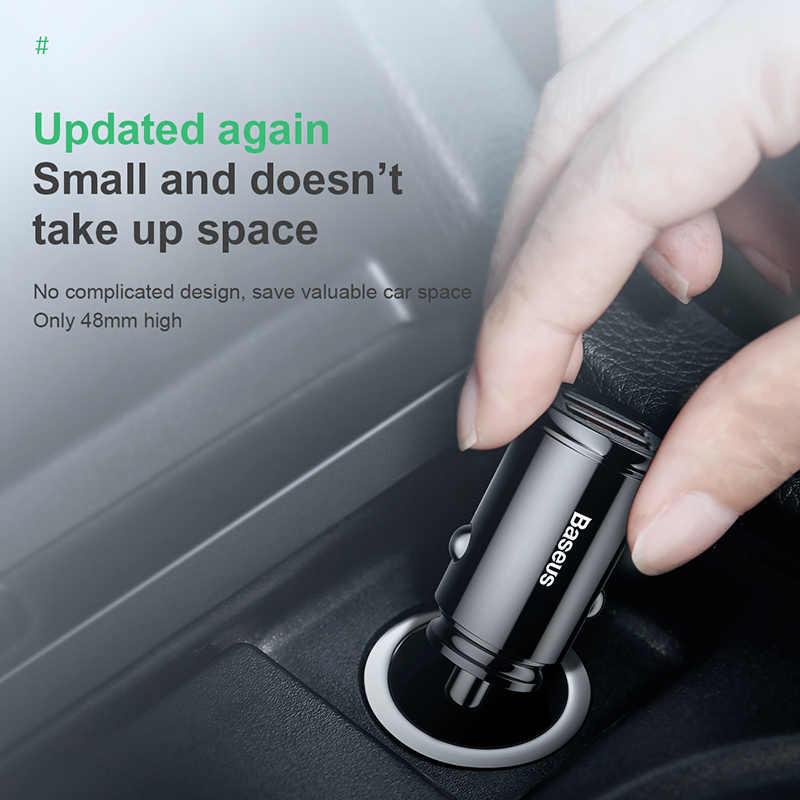 Cargador de coche USB Baseus de carga rápida 4,0 3,0 para iPhone Huawei Supercharge SCP QC4.0 QC3.0 QC Fast PD USB C cargador de coche