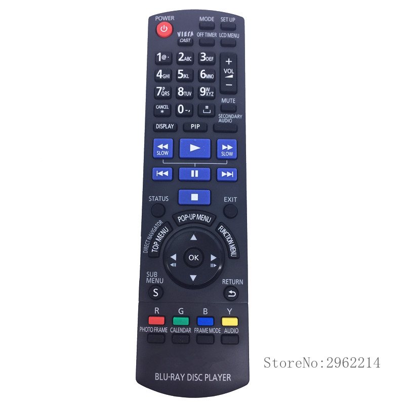 New Original <font><b>DVD</b></font> / <font><b>BLU</b></font> <font><b>RAY</b></font> DISC <font><b>PLAYER</b></font> Remote Control l N2QAKB000086 suitable for <font><b>Panasonic</b></font> BD <font><b>DVD</b></font> TV PALYER Remote control
