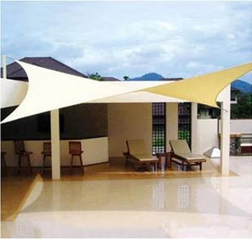 4x6m PU Square Waterproof Shade Sail Encrypt Thick Outdoor Sun Shade Net Anti Uv Awning Canopy