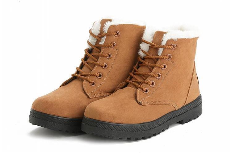Women Shoes lace-up Winter Shoes 35