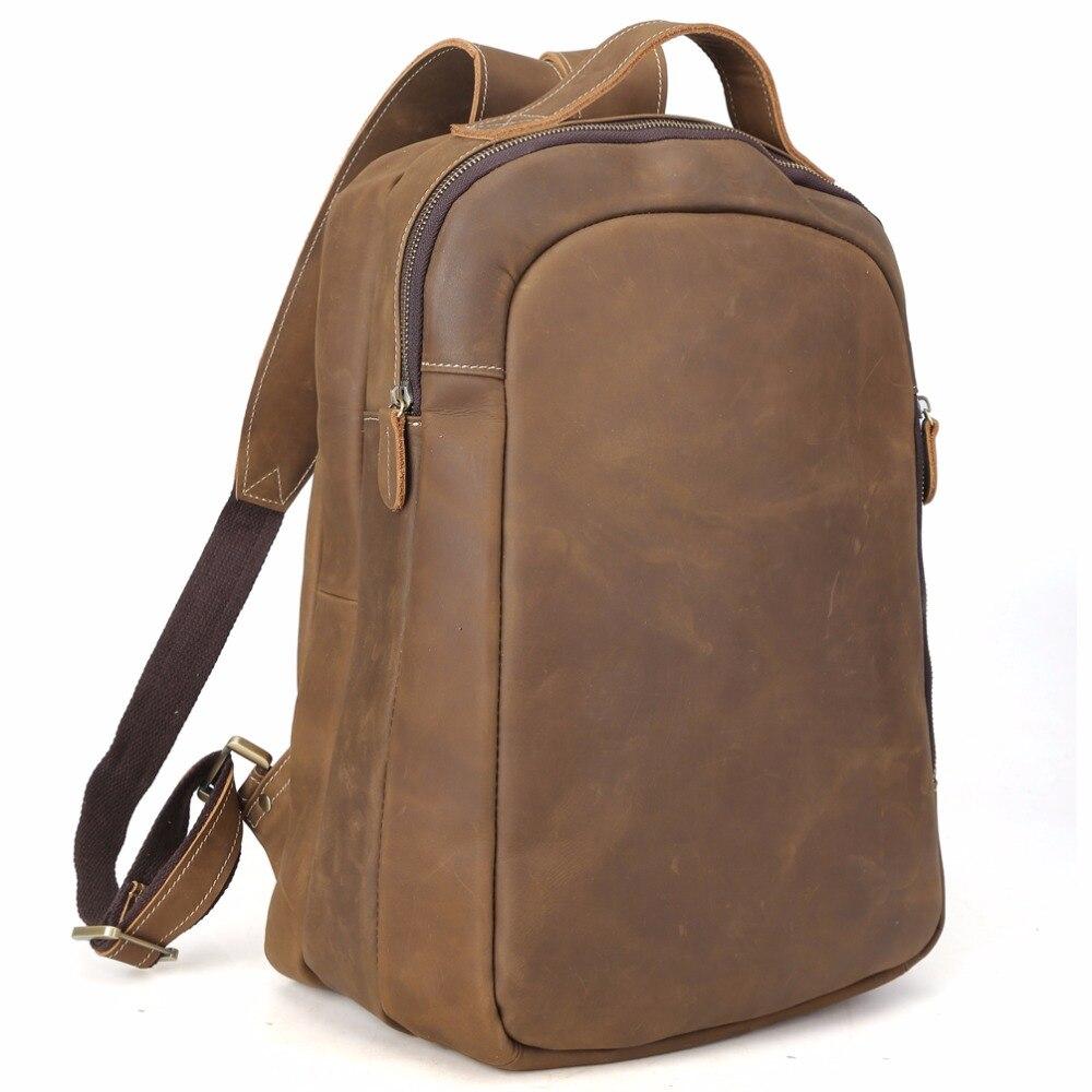 TIDING 14 laptop backpack boy school bag genuine leather book bag casual rucksack day pack 3072 рюкзак sland камуфляж 100 1491314