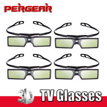 4pcs/lot Bluetooth Active Shutter 3D TV Glasses Virtual Reality for Samsung Sony LG Panasonic TV HDTV 3D TV HDTV Blue-ray Player(China)