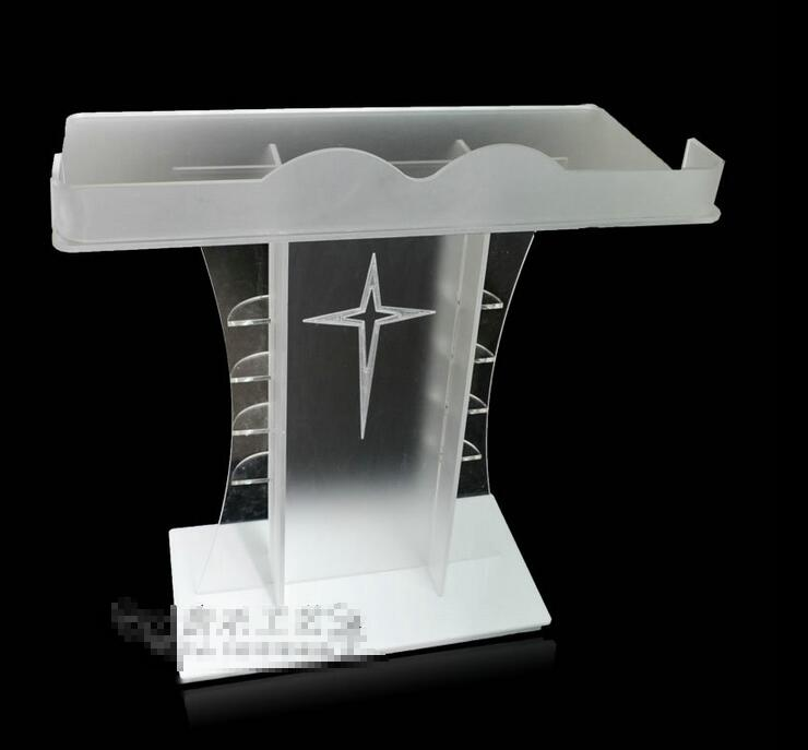 Free Shipping clean Dignified and magnanimous acrylic podium church / high quality acrylic pulpit of the church