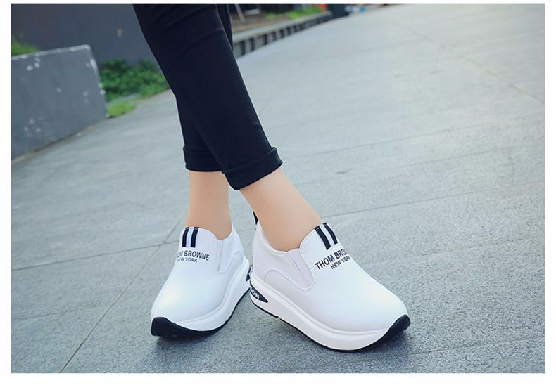 Shoes Women High Top Autumn Quality Leather Wedges Casual Shoes Height Increasing Slip On Ladies Shoes Trainers Size 35-39 YD139 (11)