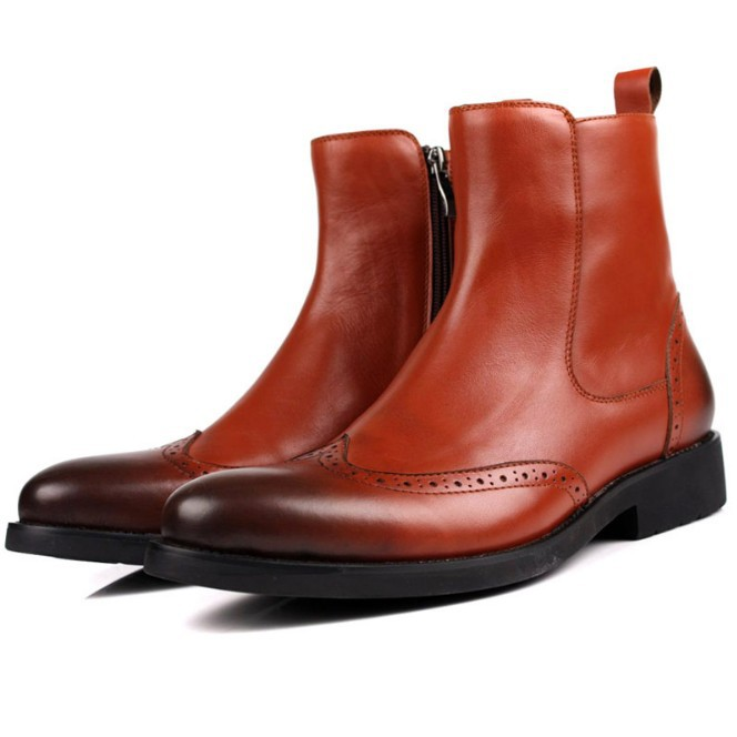 Compare Prices on Red Leather Boots for Men- Online Shopping/Buy