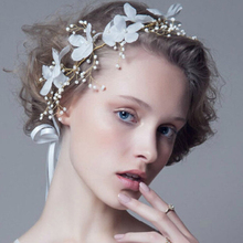 Свадебные повязки на голову, свадебные аксессуары для волос, красивые повязки на голову с цветами, модные женские повязки на голову, простые элегантные украшения для невесты