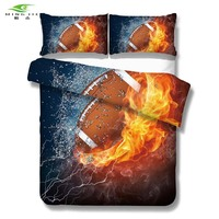 New 3D North American Football 3pcs Bedding Set Luxury Duvet Cover Sets Rugby Quilt Cover Comforter