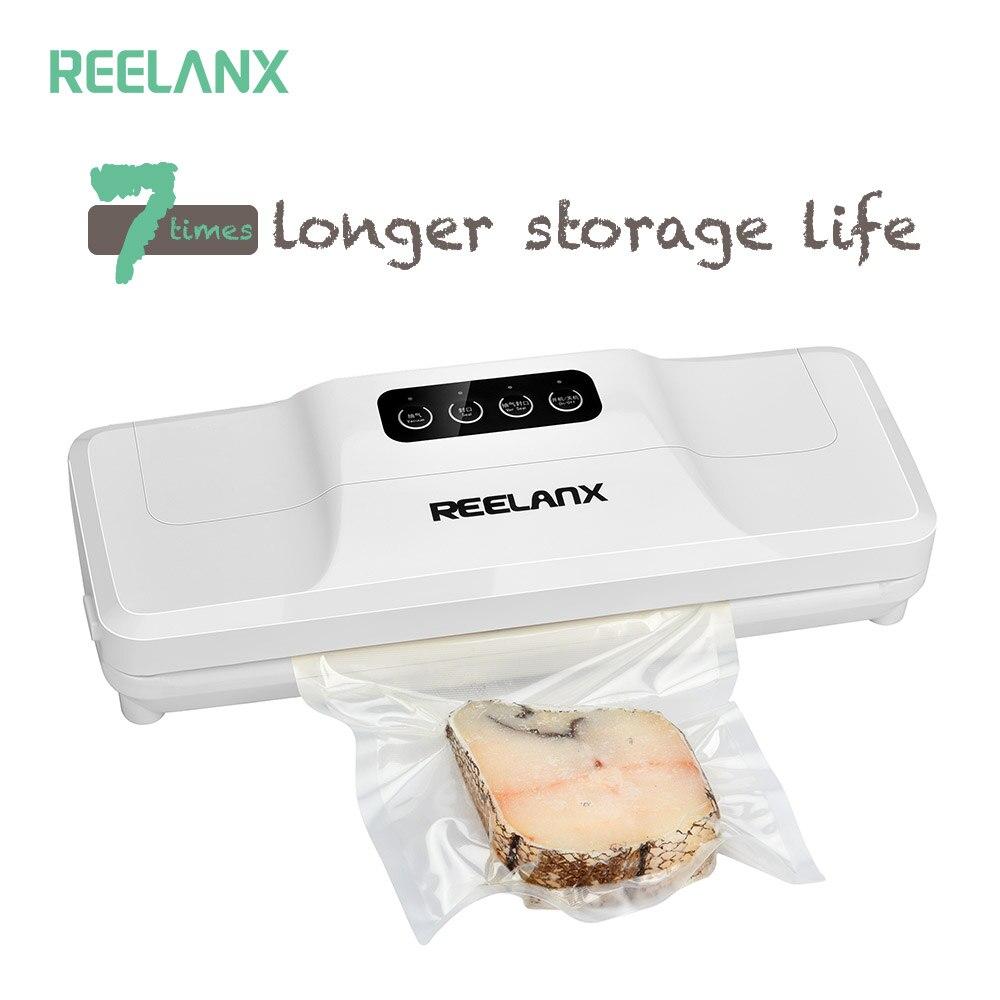 REELANX Vakuum Versiegelung 160 watt Automatische Lebensmittel Verpackung Maschine mit Starter-Kit 15 stücke taschen Beste für Haushalt Lebensmittel Schoner trockenen & Feucht