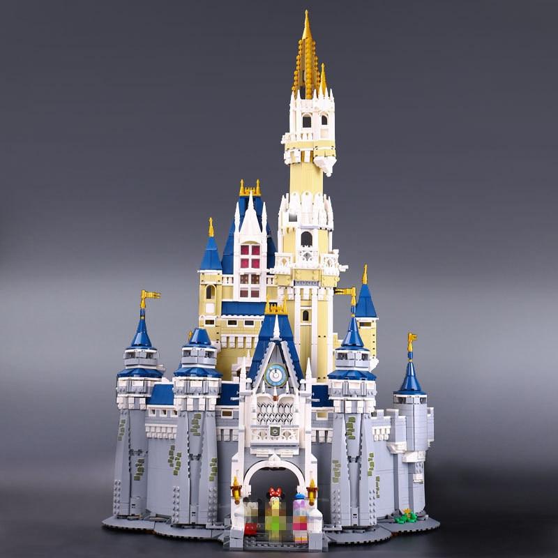 16008 Creator Cinderella Princess Castle City 4080pcs Model Building Block Children Toy Gift Compatible 71040 4080pcs city figures cinderella princess castle model building kits blocks bricks toys for children christmas compatible 71040
