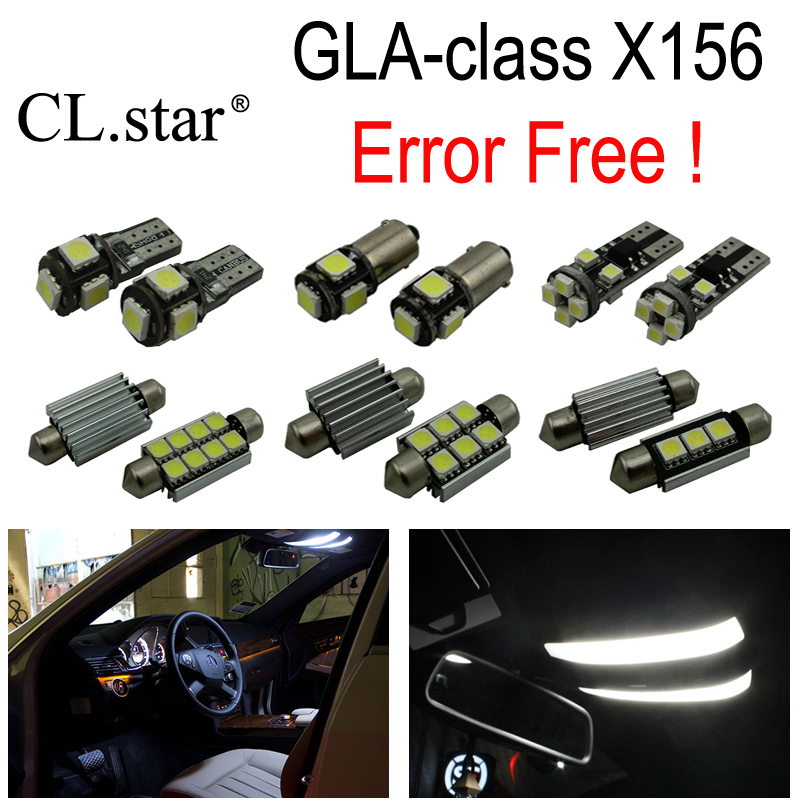 15pc X Canbus LED interior dome light lamp Kit package For Mercedes Benz GLA class X156 GLA200 GLA250 GLA45 AMG (2013+) 10pcs error free led lamp interior light kit for mercedes for mercedes benz m class w163 ml320 ml350 ml430 ml500 ml55 amg 98 05