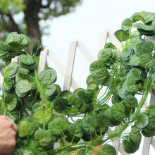 12 шт. Искусственные растения зеленый листья плюща искусственный виноград искусственная Виноградная лоза Parthenocissus листья Home свадебное Bar украшения