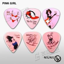 NNPICK durch IM Klassische Standard Form Rosa Mädchen Gitarre Pick Plektrum Vermittler Gauge 1,0mm