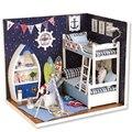 Новый Кукольный Дом Мебель Diy Миниатюрный Пылезащитный Чехол Деревянный Miniaturas Dollhouse Игрушки для Детей День Рождения Подарки Содержать рис.